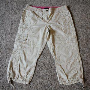 Tommy Hilfiger Drawstring Khaki Capri Pants